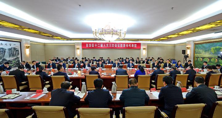 马汉成参加固原市代表团审议时说